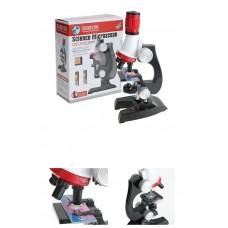 Çocuklariçin 100x 400x 1200x Zoom Işıklı,Eğitim amaçlı Monoküler Plastik Mikroskop