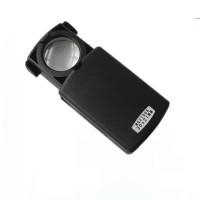 Taşınabilir 30X 21mm Çekme Tipi Işıklı Büyüteç,Mini Cep Büyüteç