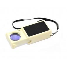 Mücevherler, ve Para Kontrol,için 45x25mm ışıklı,mor ışıklı cepte taşımalı büyüteç