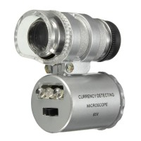 IPhone5 için Uyumlu Kapaklı Lens Mikroskop Taşınabilir Mini Cep Boyutu LED Mikroskop NO.9882-IP5II