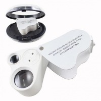 Kuyumcular için Göz Büyüteç, Işıklı metal 30x22mm 60x12mm Aydınlatma led