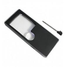 Beyaz LED Işık ile 3X / 10X Cep Telefonu Multi Büyüteç