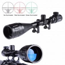 TR-Nikula 4-16X50 AOEG Zoomlu Tüfek Dürbünü Çift Işıklı Kırmızı,Yeşil Kaynaklı Avcılık Dürbün